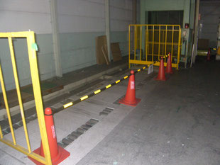 アルミ製安全柵新設工事:工事前