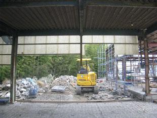 2連装シャッター新設工事:工事前