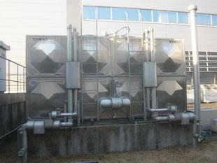 貯水槽タラップ防護柵:工事前