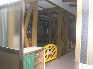 木造建物内部耐震補強:工事前