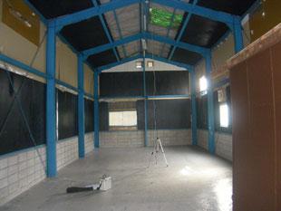 鉄骨造中二階新設工事:工事前