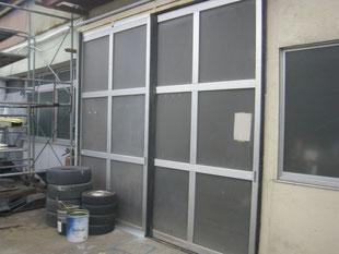 アルミ製ハンガードア改修工事:工事後