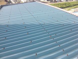 折版屋根遮熱塗装工事:工事前