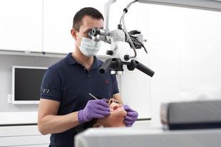 Wurzelbehandlung Frankfurt Stadtmitte - Endodontie mit Mikroskop