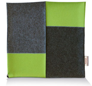 ein blau-graues Sitzkissen Bürostuhl Flowmo Pad