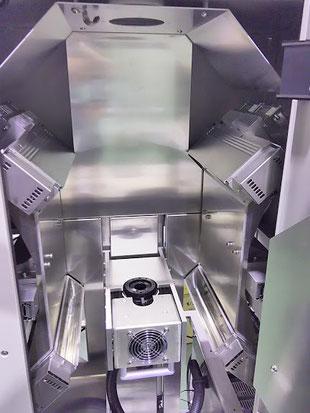 ワークにハロゲンランプを均等に照射する装置
