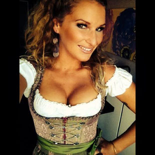 Janni Hönscheid at Oktoberfest Munich
