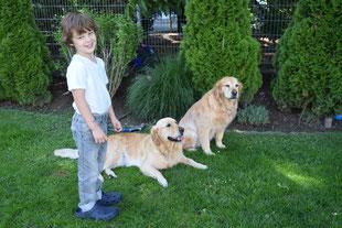 Ben mit Maira und Dinah