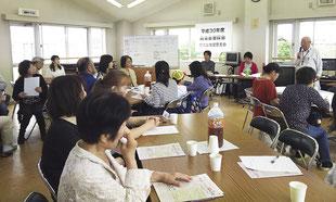 団体別懇談会、自治会・管理組合代表者の懇談会の様子