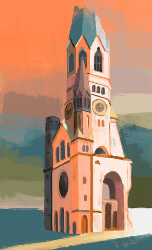 """Memorial Church"" - different sizes available - digital painting with Photoshop"