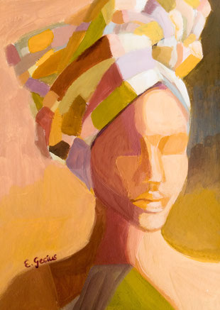 Picture // Women // Original painting // 21 x 28 cm // Waris