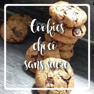 Cookies pepites de chocolat sans gluten et sans sucre vegan by kim- cuisinouverte.com