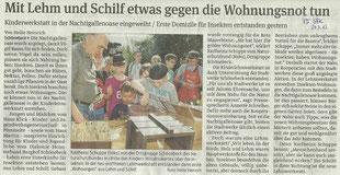 Volksstimme Schönebeck vom 24. Juli 2013 (Heike Heinrich)