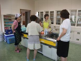 下川消費者協会と札幌消費者協会で鹿シャブ準備