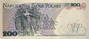 Original Banknote: Polen | 200 Zloty | 1976-88