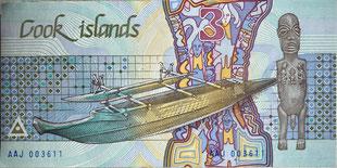 Original Banknote: Cook Islands | 3 Dollars | 1987