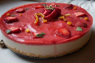 cheesecake vegana alle fragole
