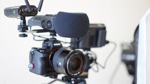 カメラ、マイク機材例