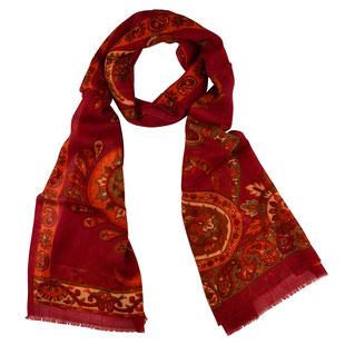 Wollschal KANDIVALI rot indisch