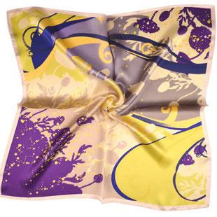 Seiden Halstuch BLUE MEADOWS lila gelb