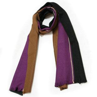 Seidenschal Winter braun violett