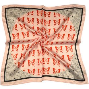 Seiden Halstuch Schmetterlinge pink rot padmera