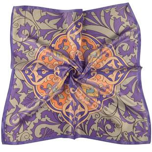 Seiden Halstuch Belle Époque lila violett taupe