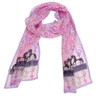 Seiden Schal pink Etruskisch