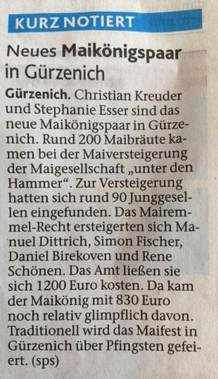 Dürener Zeitung, 26.03.2016