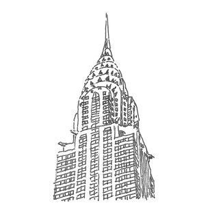 Chrysler Building New York Sketch of the Top by Heidi Mergl Architect