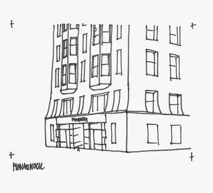Monadnock Building sketched by Heidi Mergl Architect