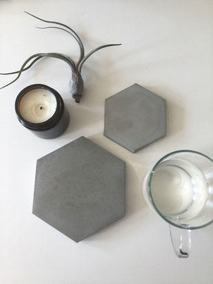 Successfully Tested DIY Hexagon Concrete Coaster Tutorial