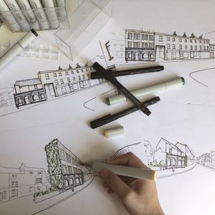 Vision Sketch for Margate Regeneration by Heidi Mergl Architect