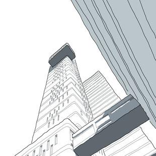 Trellick Tower Sketch by Heidi Mergl Architect