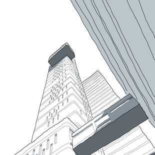 Trellick Tower Sketch by Heidi Mergl Architect