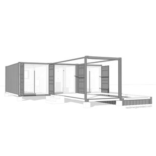 Container Home Garden Design With Pool Extension By Heidi Mergl Architect