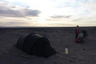 Spot camping desert
