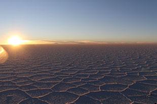 sunset Salar d'Uyuni