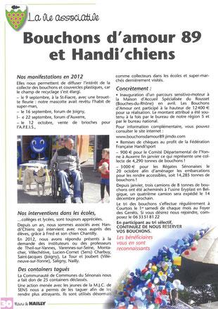 Magazine d'information de la mairie de Nailly mai 2013