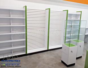 Muebles para papelería, muebles para farmacia
