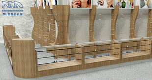 Mueble pavitrina para perfumes, exhibidor para cosméticos, exhibidor para perfumería