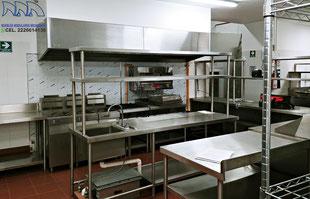 Muebles de acero inoxidable para cocinas industriales, comedores y restaurantes