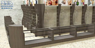 Mueble para boutique, mueble para perfumes, mueble para cosméticos, mueble para perfumería