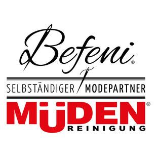 mueden.de, Masshemd, Ausmessvideo, Logo Befeni und Müden Reinigung