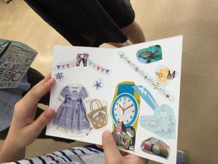 青野セラピストと跡田セラピストの見事な連携で「アロマコラージュforYou」を実施。おふたりで参加された方がお互いのために作品を作り、プレゼントし合いました。