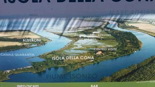 Isonzo Mündung, Isola della Cona