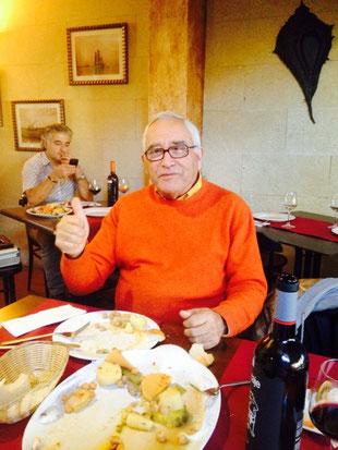 Juanjo Seguí degustó nuestro puchero de pulpo