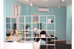 内観 おしゃれ ティファニーブルー 葛飾区金町の美容室・美容院・ヘアサロン Fruta-フルータ