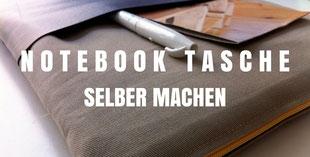 Notebooktasche nähen
