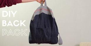 Rucksack aus alter Jeans